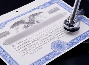 New York Stock Certificate